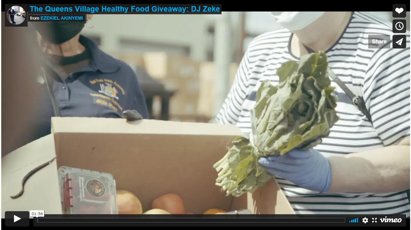 The Queens Village Healthy Food Giveaway: DJ Zeke
