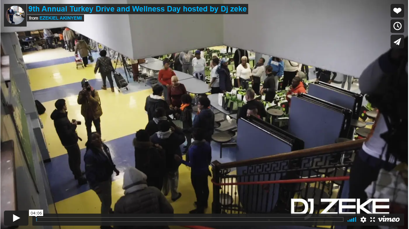 9th Annual Turkey Drive and Wellness Day hosted by Dj zeke