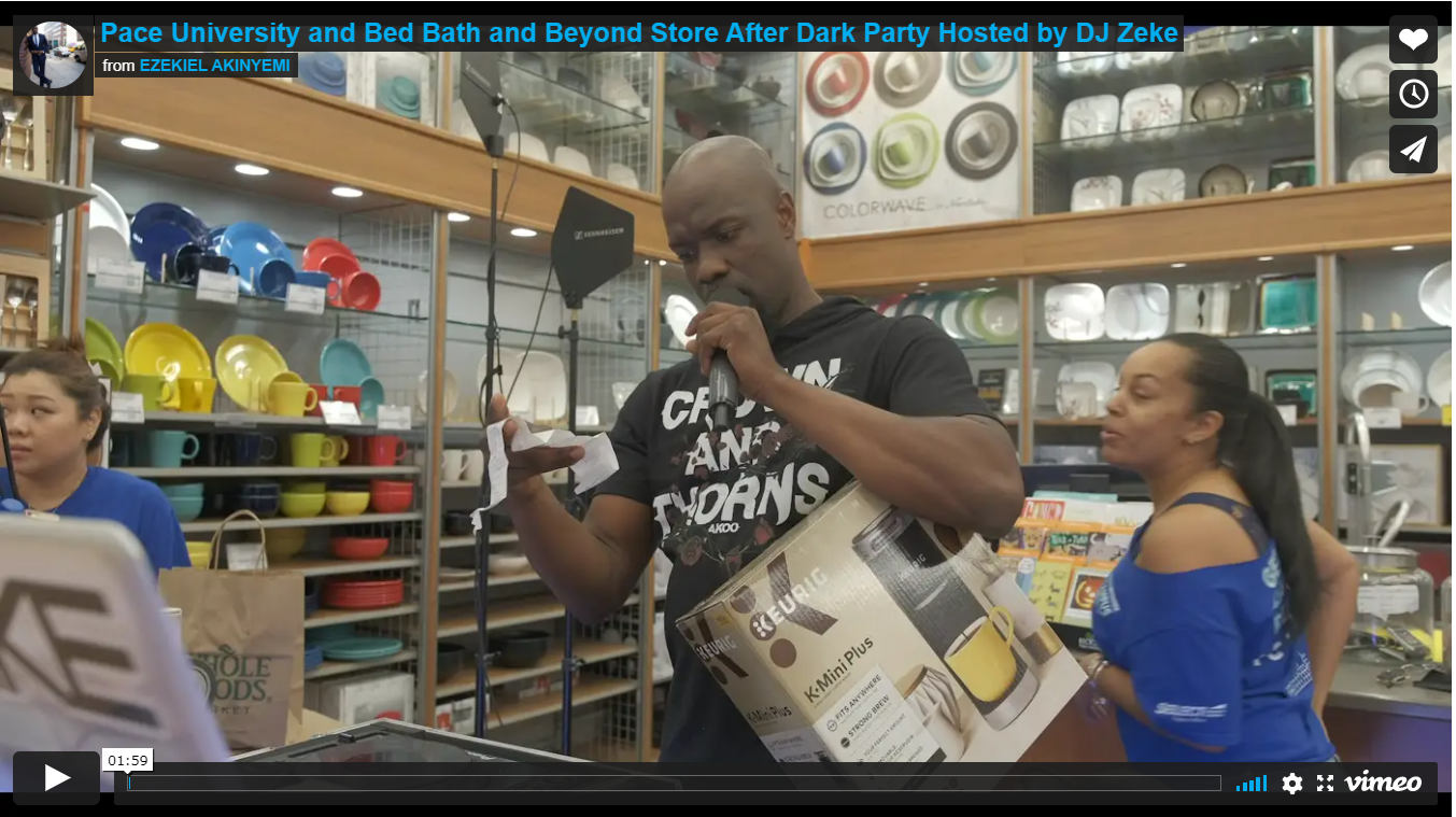 Pace University and Bed Bath and Beyond Store After Dark Party Hosted by DJ Zeke